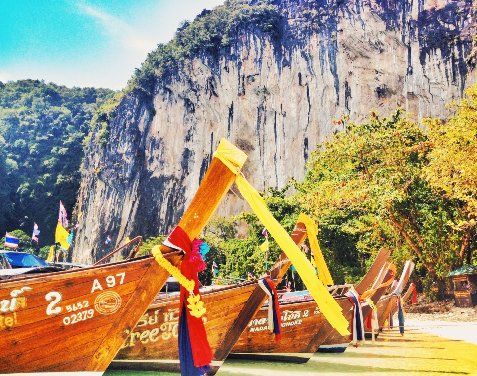 Longtail boats (and the default Krabi shot everyone takes)