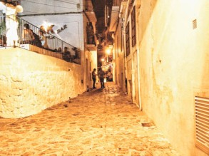 Back alleys of Ibiza Town